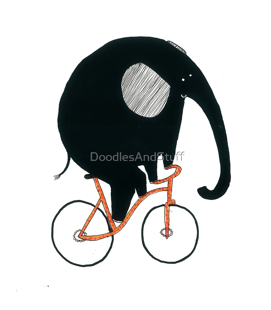 Elephant Riding A Bicycle by DoodlesAndStuff