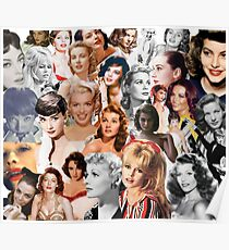 Starlets Collage Poster