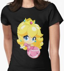 Super Smash Bros. Princess Peach Womens Fitted T-Shirt