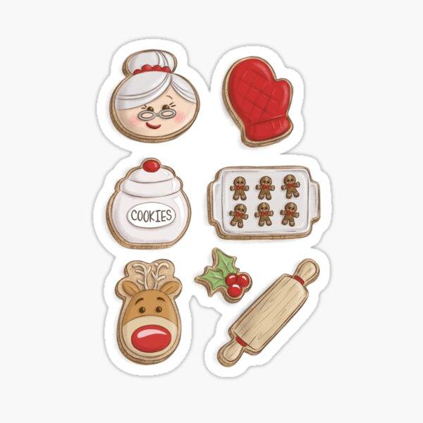 Mrs. Claus Cookies Sticker