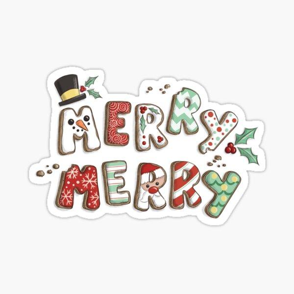 Merry Merry Christmas Cookies  Sticker