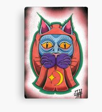 Lucky daruma cat Canvas Print