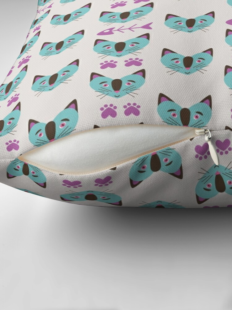 Alternate view of In the Heartland - CATS! Throw Pillow