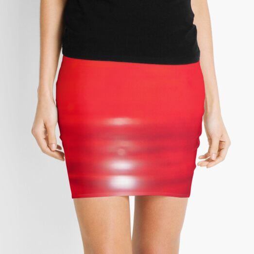 Red Reflection  Mini Skirt