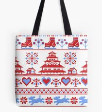 Winter Ice Skating Aesthetic Tote Bag