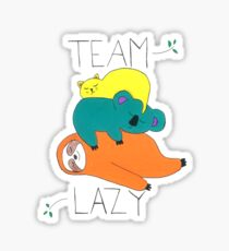 Team Lazy Sticker