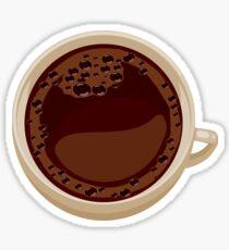 Cup of coffee mug art Sticker