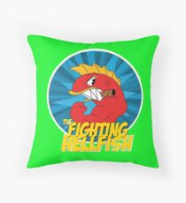 The Fighting Hellfish! Throw Pillow
