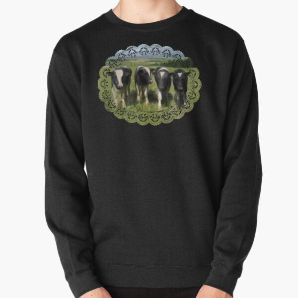 Curious cows Pullover Sweatshirt