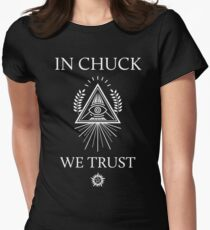 In Chuck, We Trust Womens Fitted T-Shirt