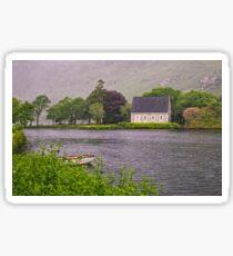 Chapel In The Mist - Gougane Barra - County Cork - Ireland Sticker