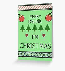 Merry Drunk Greeting Card