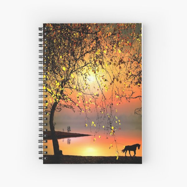 At The Sunset Spiral Notebook