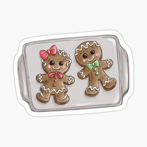 Gingerbread Couple Cookies Sticker