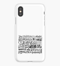 Hello - Languages iPhone Case/Skin