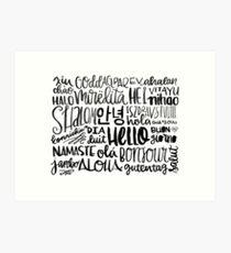 Hello - Languages Art Print