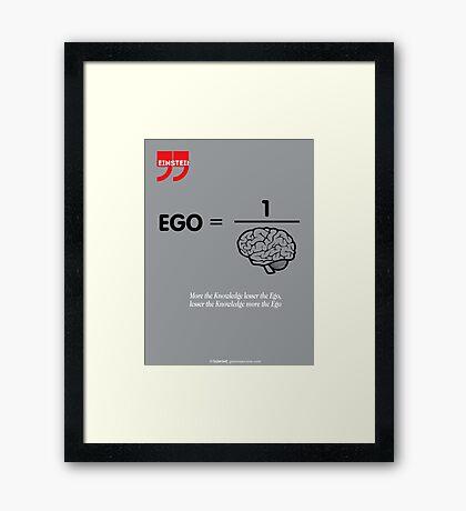 Albert Einstein Quote Framed Print