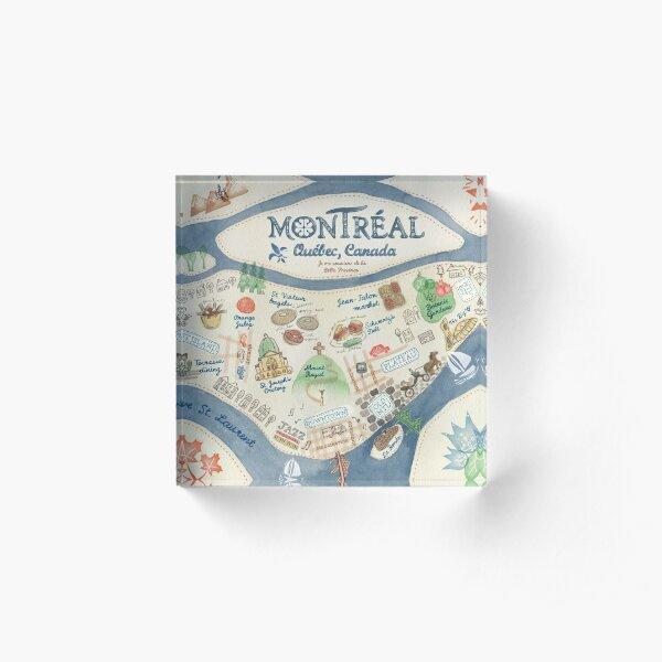 Map of Montreal, Canada Acrylic Block