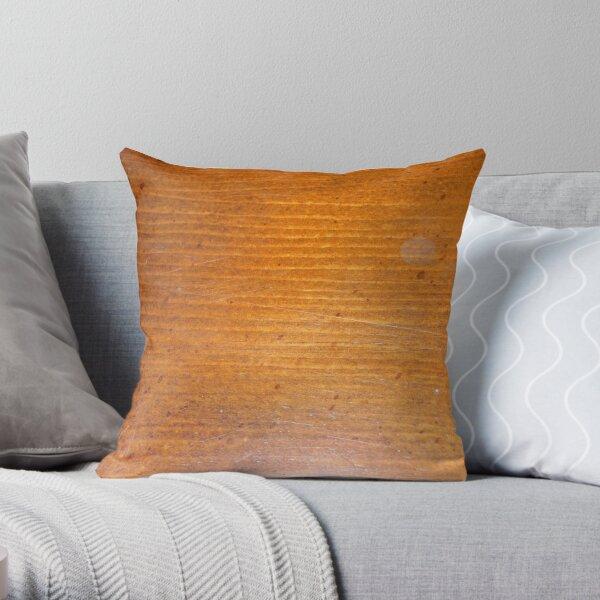 Wooden Facade Throw Pillow