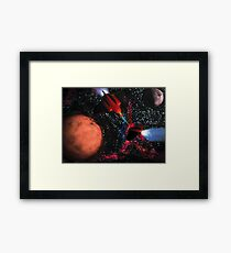 Space Wars Framed Print