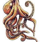 Sepia Octopus by Heather Hitchman