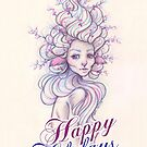 The Berry Hair Faun Happy Holidays by Heather Hitchman