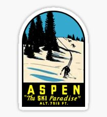 Aspen Colorado Vintage Ski Travel Decal Sticker