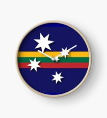 Australian-Lithuanian Flag Clock