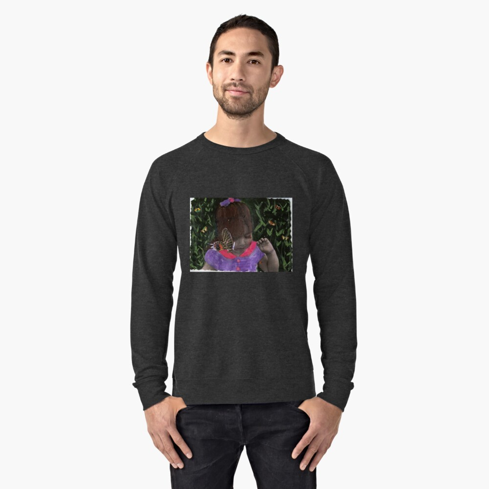 Butterfly Kisses (my Niece Alexandra) Lightweight Sweatshirt Front