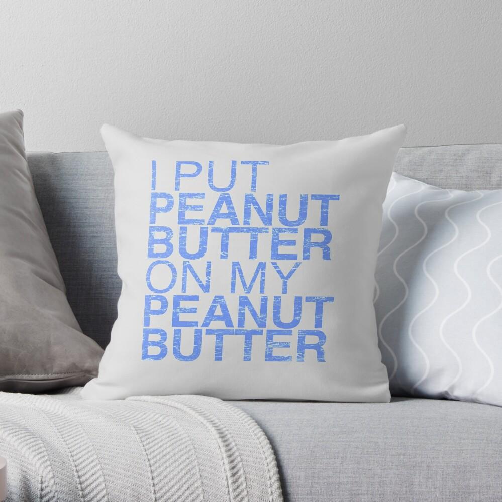 Peanut Butter Lover 2 Throw Pillow