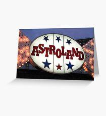 Astroland Greeting Card