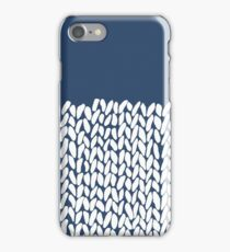 Half Knit Navy iPhone Case/Skin
