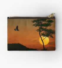 A Hawk In The Sunset Studio Pouch