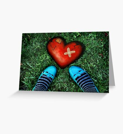 How to mend a broken heart Greeting Card