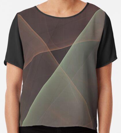 #Fractal Art Lines Chiffon Top