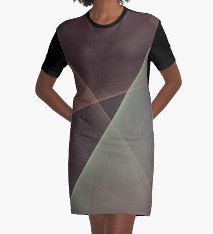 #Fractal Art Lines Graphic T-Shirt Dress