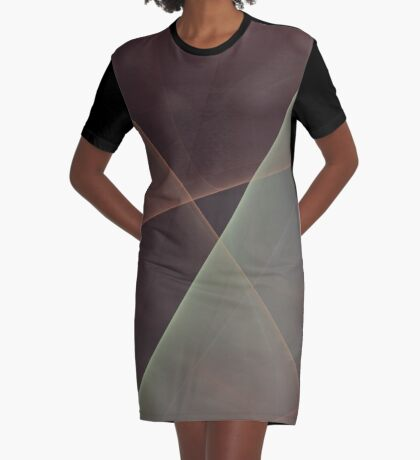 #Fractal Art Lines Graphic T-Shirt Dress