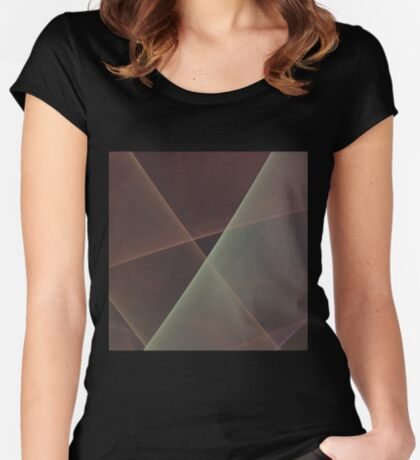 #Fractal Art Lines Women's Fitted Scoop T-Shirt