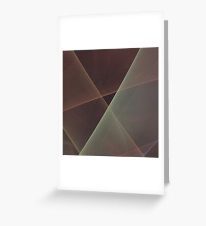 #Fractal Art Lines Greeting Card