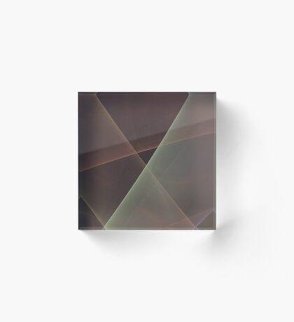 #Fractal Art Lines Acrylic Block