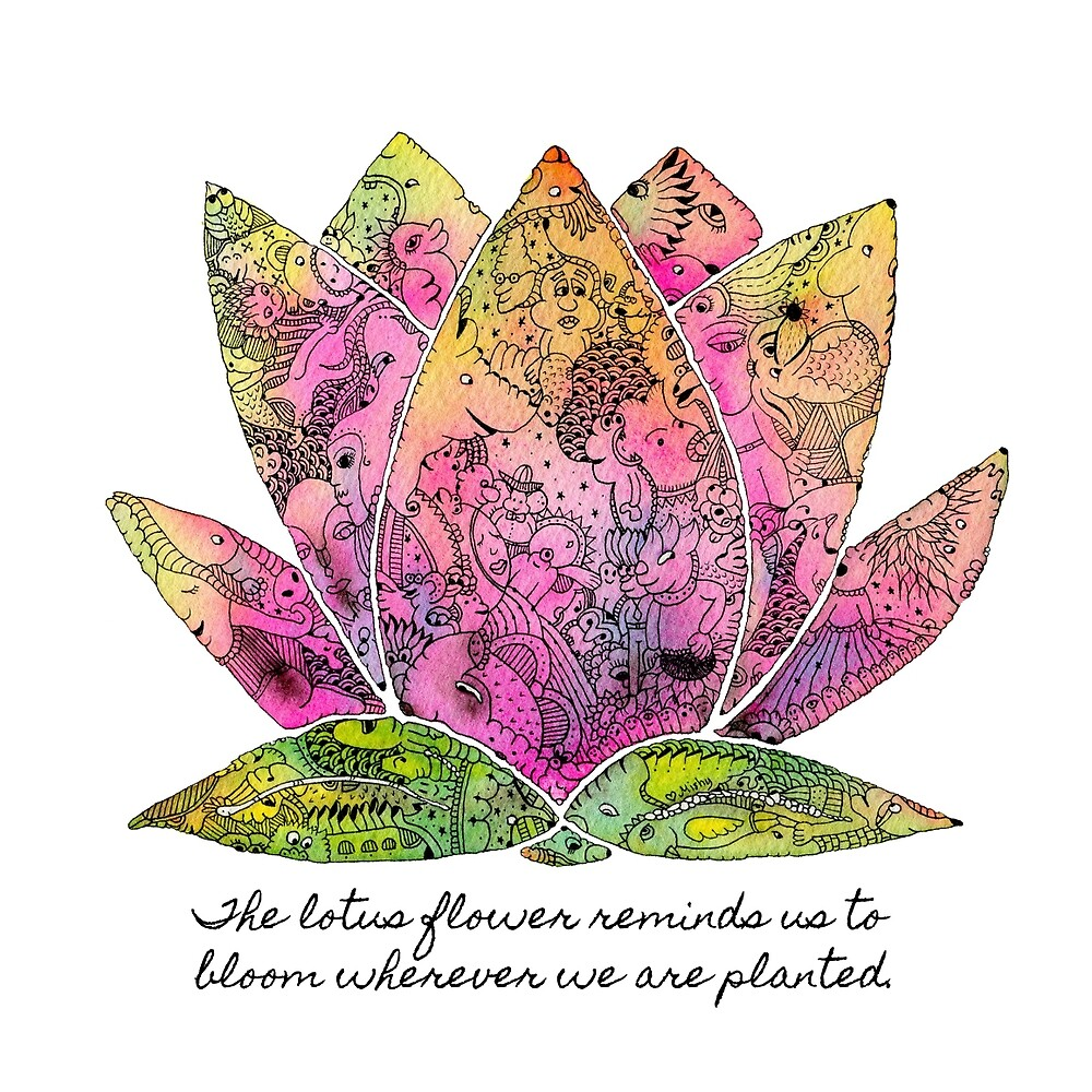 Lotus Flower Inspiring Quote By Mishyrowan Redbubble