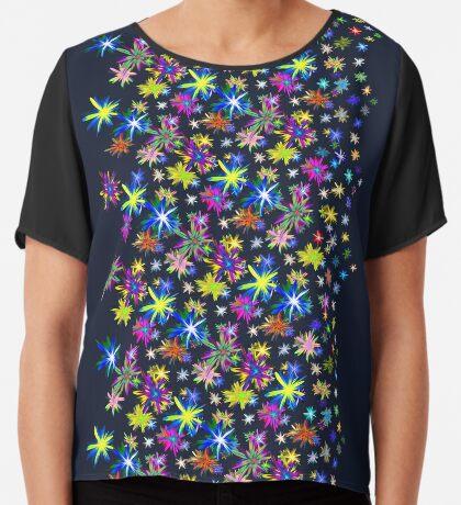 Flower blast structured chaos in stratosphere #fractal art Chiffon Top