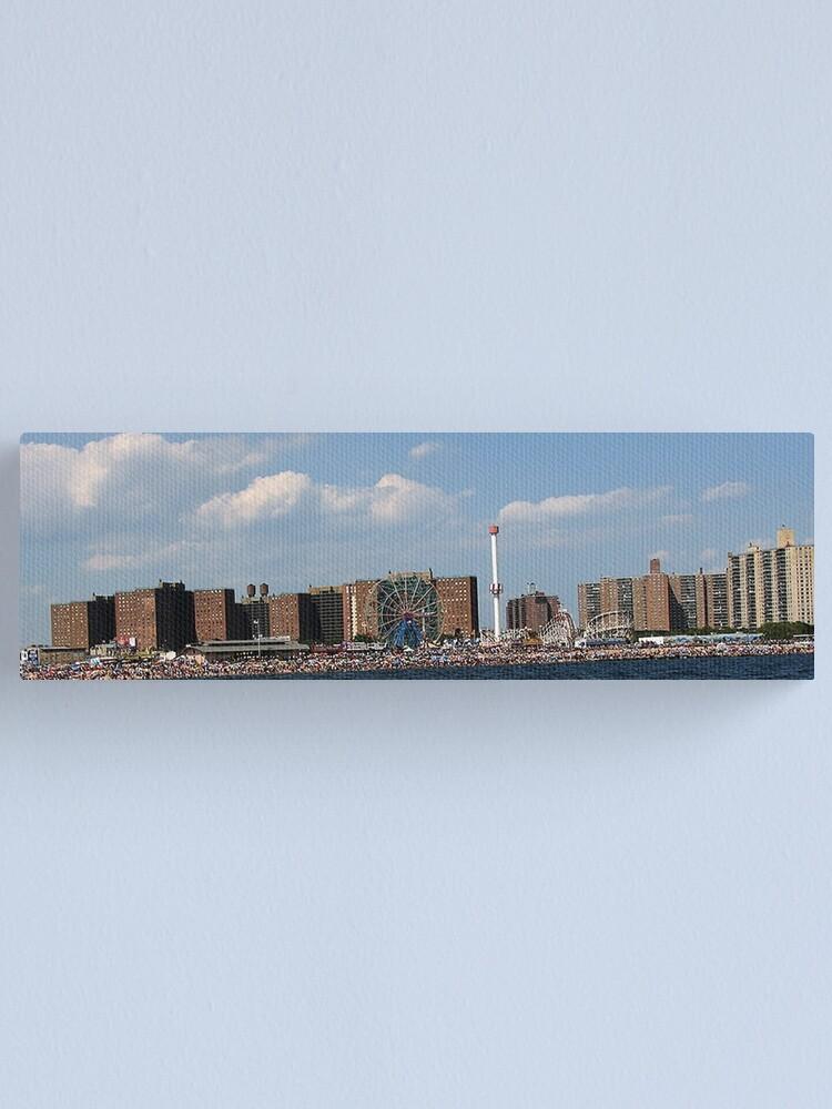 Alternate view of Coney Island Beach 2  Canvas Print