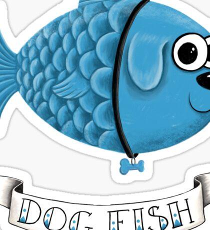 Dog Fish Sticker