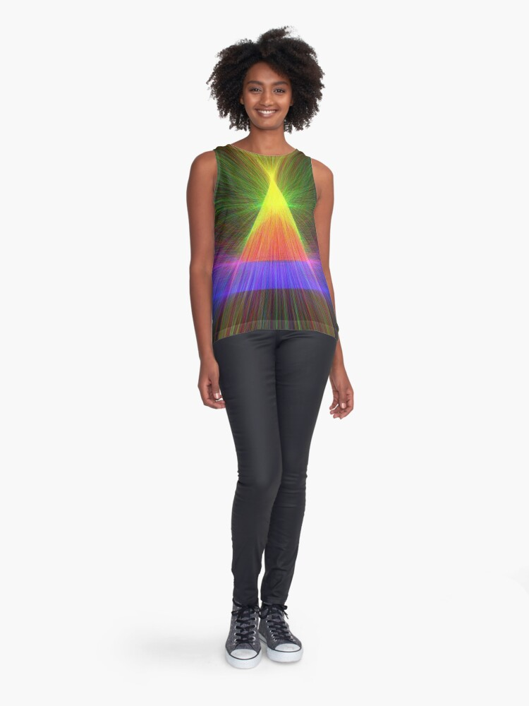 Alternate view of Linify Linify Light Tower, Pyramid Sleeveless Top