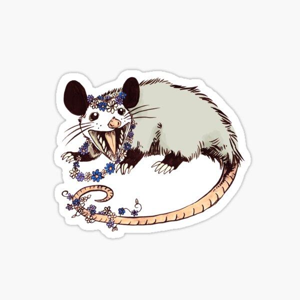 Daisy Chain Opossum Possum Yaaaas! Pegatina