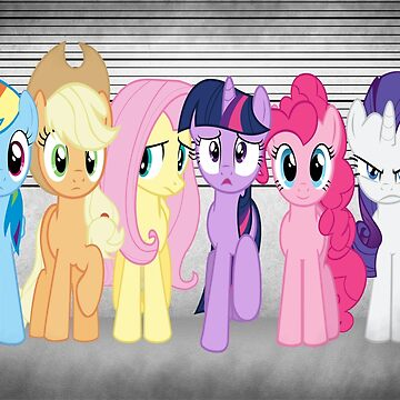 Mane 6 Line Up  by Austin673