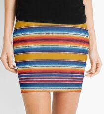 Saffron striped serape Mini Skirt
