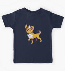Fizz, The Disgruntled Fluffy Puppy Dog Kids Tee