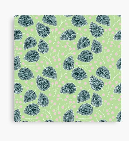 Tilia pattern / Lindenmuster Canvas Print